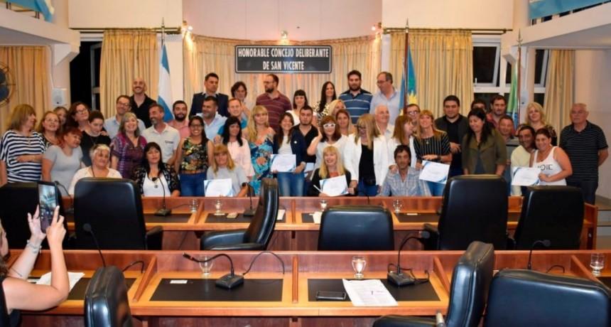 San Vicente: El HCD distinguió a vecinos e instituciones por su accionar comunitario