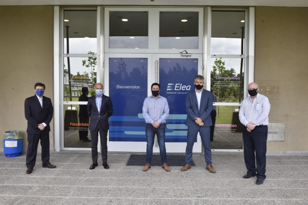 Malvinas Argentinas: Nardini visitó la planta de Laboratorio Elea