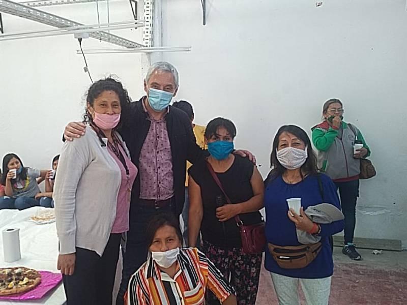 Berisso: El intendente Cagliardi inauguró una Cooperativa Textil en Villa Argüello