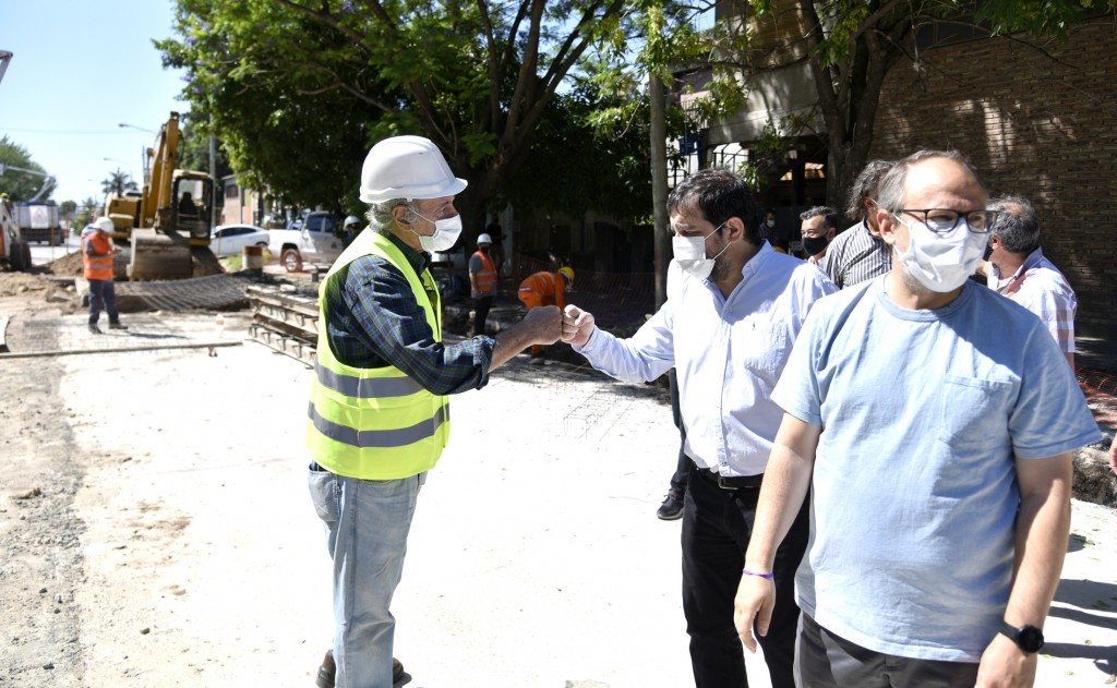 San Martín: Comenzó la remodelación integral de la Avenida Triunvirato