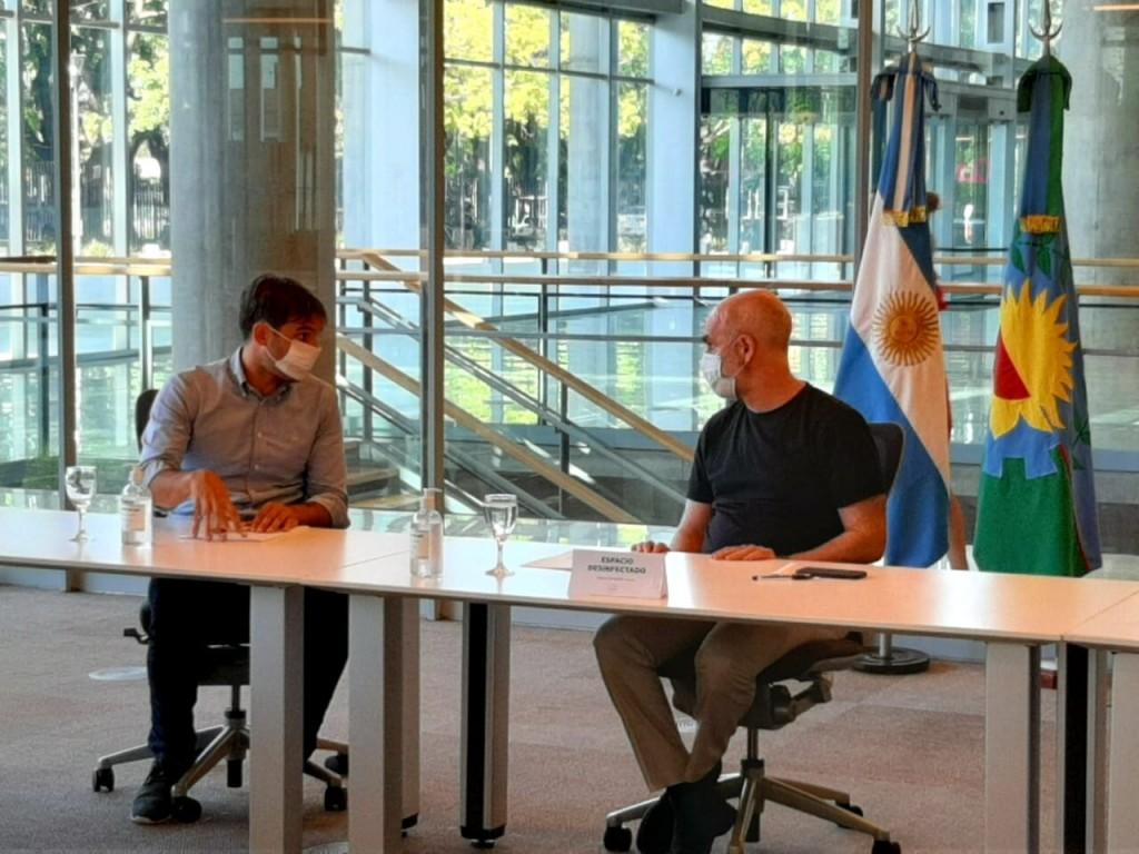 San Nicolás: Manuel Passaglia firmó un convenio con Larreta