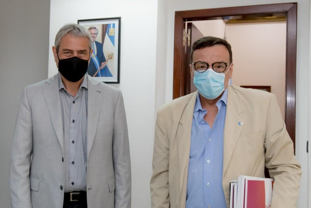 Zárate: Cáffaro mantuvo una reunión con el Ministro de Desarrollo Territorial y Hábitat Jorge Ferraresi