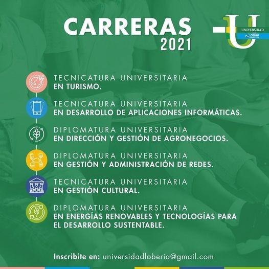 Lobería: Inicia la inscripción abierta para La Universidad del distrito