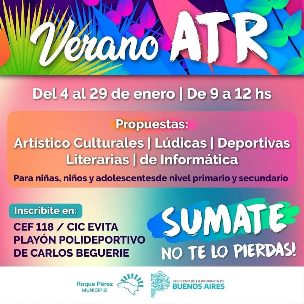 Roque Pérez: En Enero comienza el programa Verano ATR en el distrito