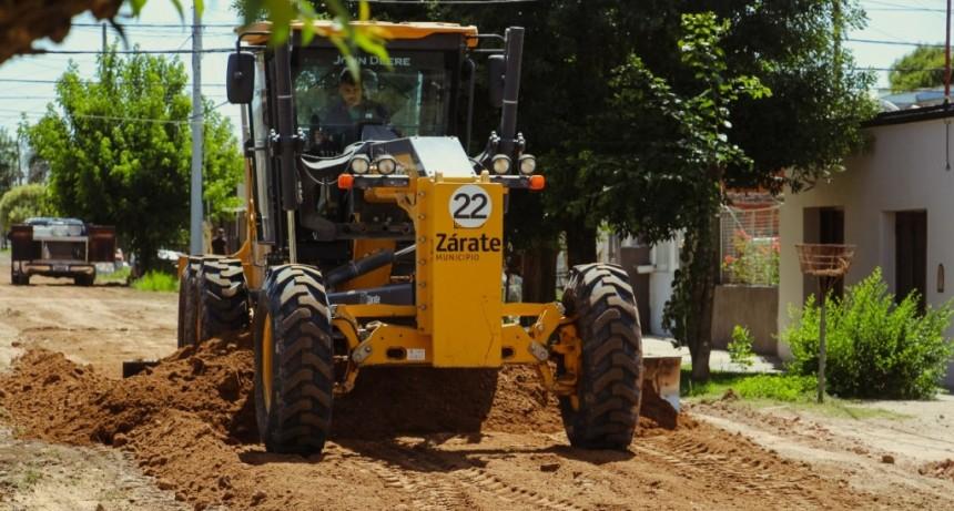 Zárate: El municipio amplía el plan de mejoramiento de vía pública