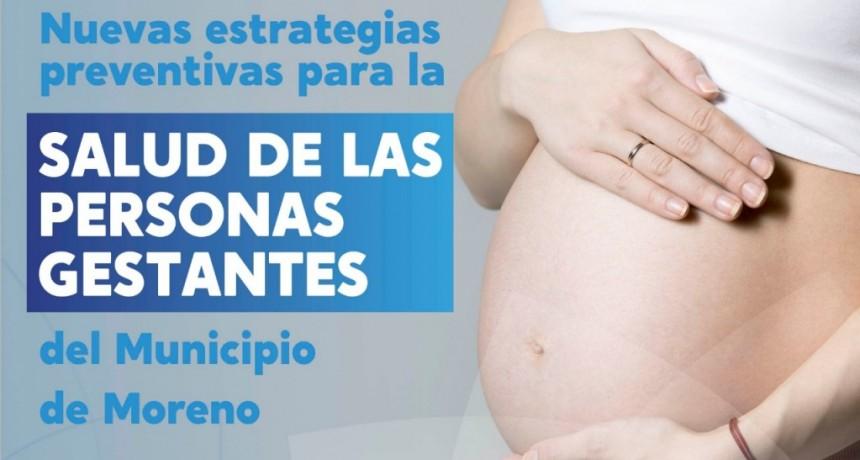 Moreno: Nueva estrategia preventiva para la salud de las personas gestantes