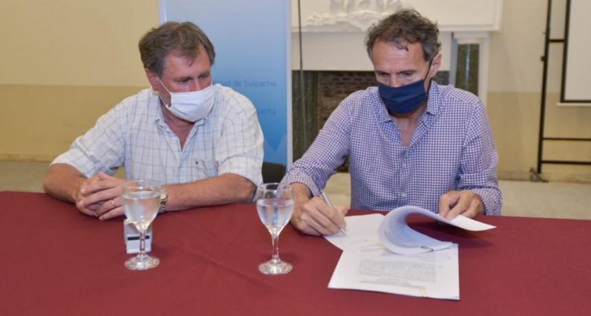 Suipacha: Katopodis firmó importantes convenios junto al Intendente