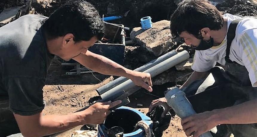 Luján: Trabajos para finalizar la normalización del servicio de agua corriente