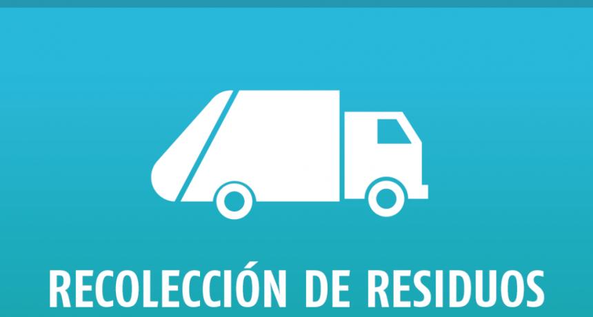 Zárate: Cronograma de recolección de residuos por el feriado del lunes 7 y martes 8 de diciembre